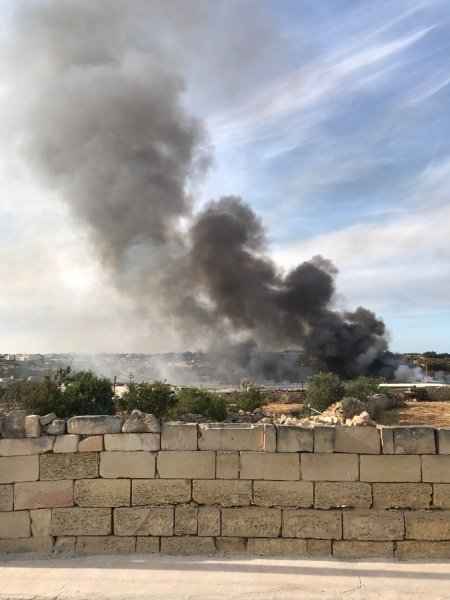 Fire at Sant Antnin Waste Treatment Plant 1