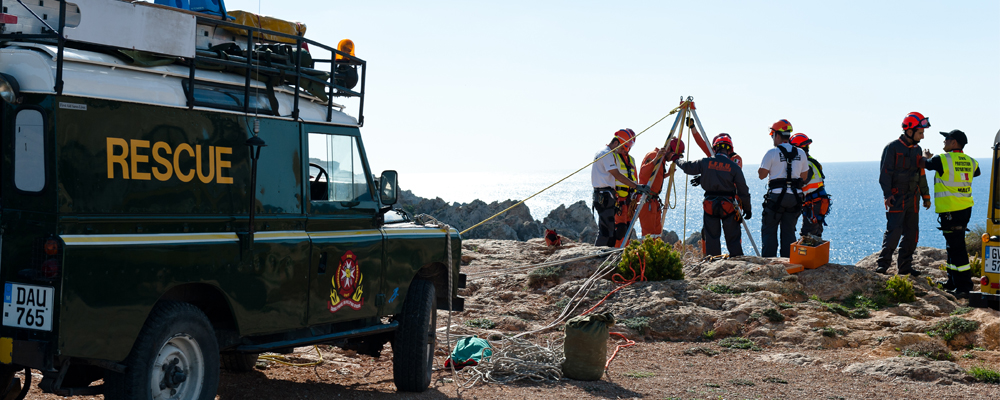 EFRU Rope Rescue Team During the Novex 2012