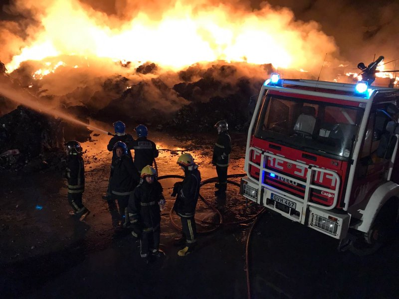 Fire at Sant'Antnin Waste Treatment Plant
